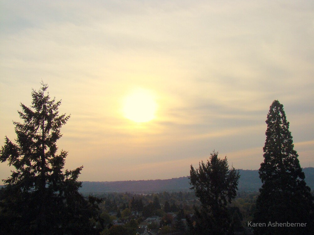 Sunset over Portland by Karen Ashenberner