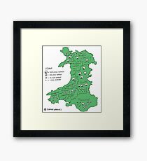 Sheep in Wales (no titles) Framed Print