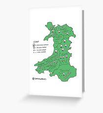 Sheep in Wales (no titles) Greeting Card