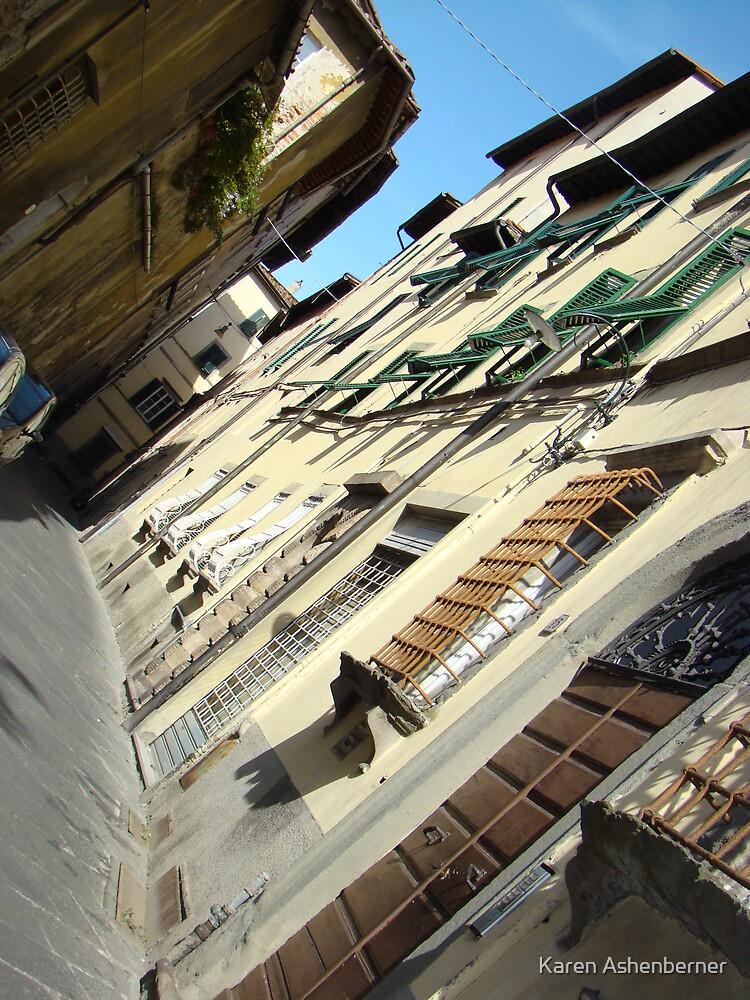 Street in Siena Italy by Karen Ashenberner