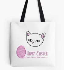 Happy Easter - pink Tote Bag