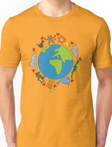 We Love Our Planet | Animals Around The World Unisex T-Shirt