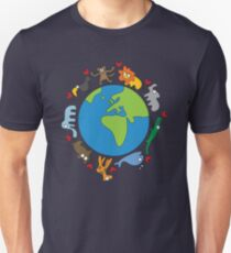 We Love Our Planet | Animals Around The World T-Shirt