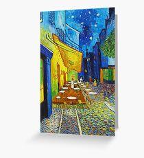 Van Gogh Café Terrace Night Berühmte Gemälde Impressionist Grußkarte