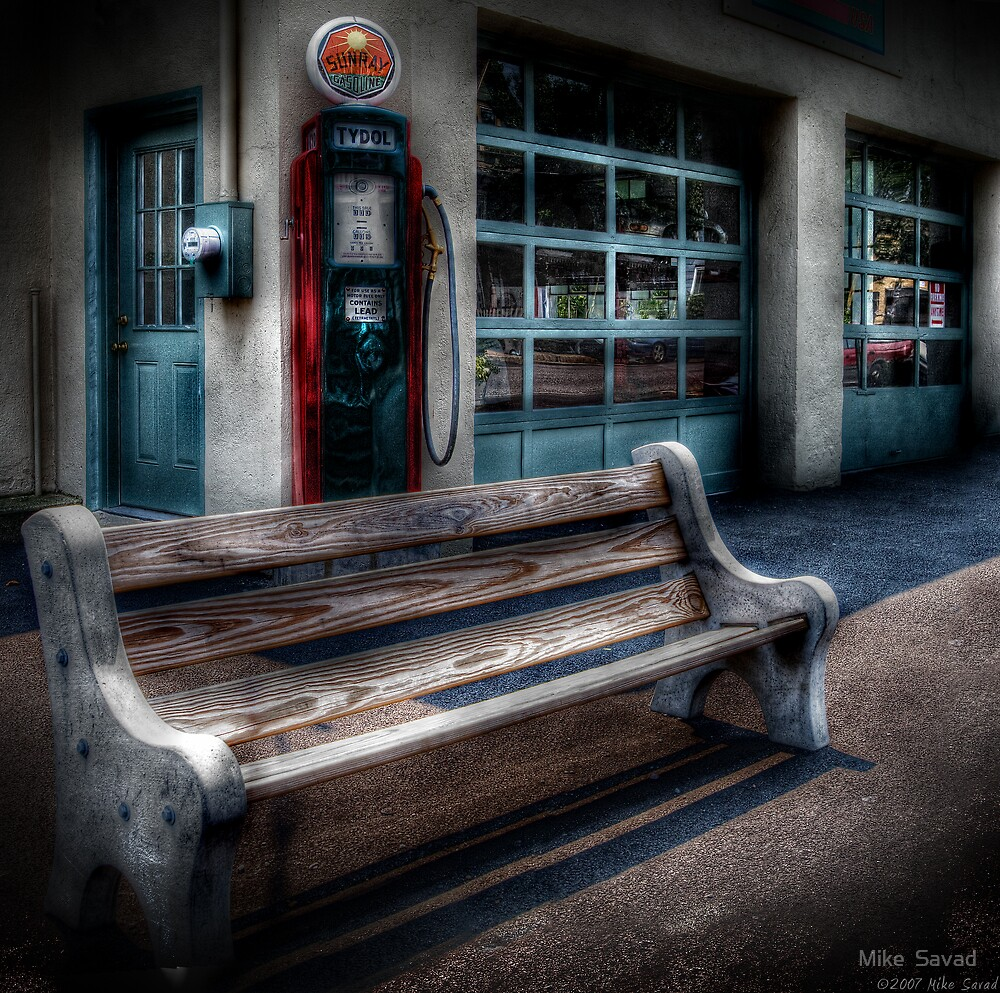 The gas station by Michael Savad