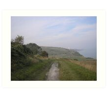 South Downs View Art Print