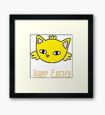 Happy Easter - Meow Chick Framed Print
