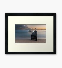 Shelly Beach Before the Dredging Framed Print
