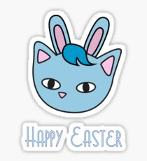 Happy Easter - Meow Bunny Sticker