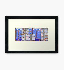 Megaman Themed Pixel Level Framed Print