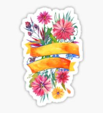 Colorful Flowers of spring Sticker