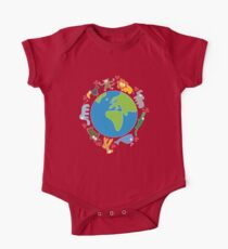 We Love Our Planet | Animals Around The World II One Piece - Short Sleeve