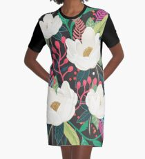 The Garden of Alice, flower, floral, blossom art print Graphic T-Shirt Dress