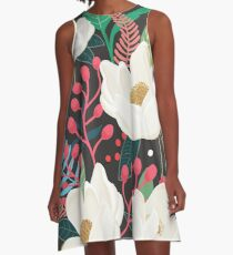 The Garden of Alice, flower, floral, blossom art print A-Line Dress