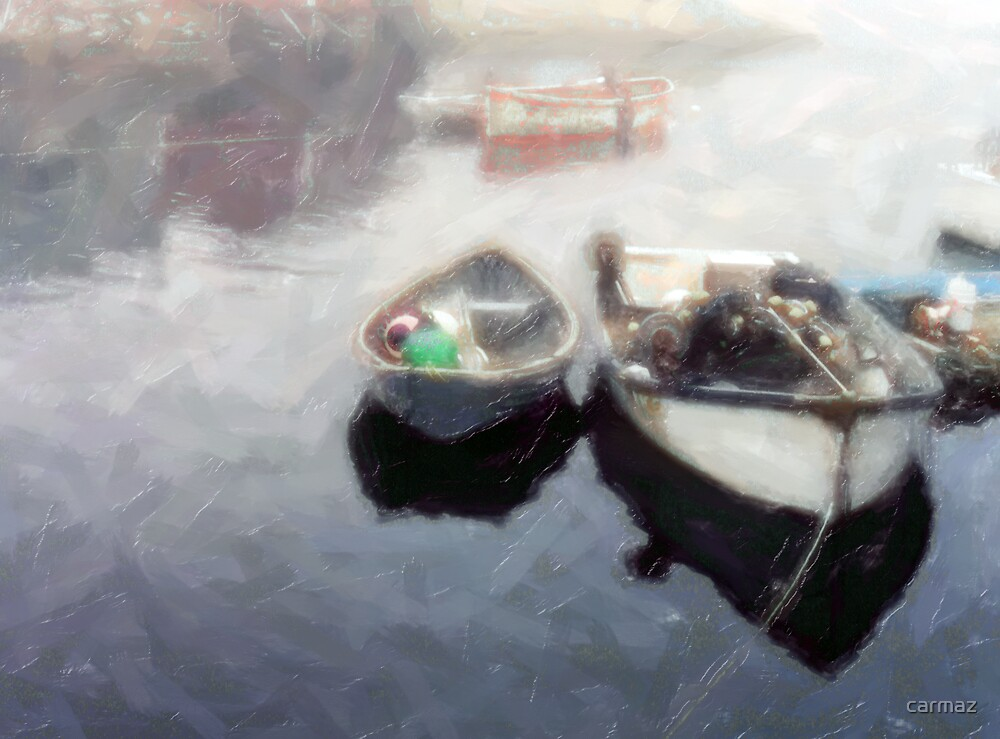 Boats in the Fog by carmaz