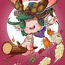 Yoshiki & Capitan leap by Jordan Lewerissa