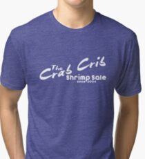 Shrimp Sale at the Crab Crib Tri-blend T-Shirt