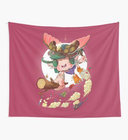 Yoshiki & Capitan leap Wall Tapestry