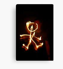 Firey Stickman Canvas Print