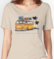 Bay-sitting-at-the-Beach (Orange) Women's Relaxed Fit T-Shirt