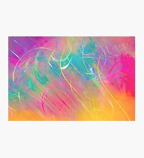 Chaotic colorful lines Photographic Print