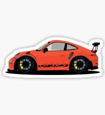Squashed Lava Orange GT3 RS Sticker