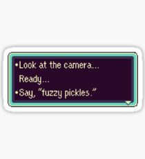 """Earthbound """"Fuzzy pickles"""" #2 Sticker"""