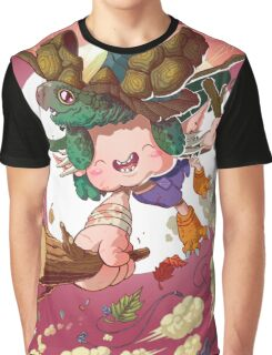 Yoshiki & Capitan leap Graphic T-Shirt