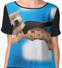Boxman hero flying up in the clouds Chiffon Top