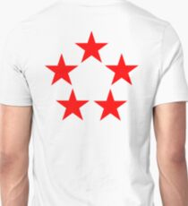 FIVE STAR, Red Star, RED, Stardom, Power to the people! Red Dwarf, Stellar, Cosmic. WHITE T-Shirt