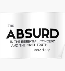 the absurd - camus Poster