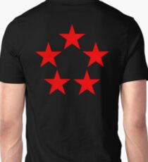 Red Star, FIVE STAR, RED, Stardom, Power to the people! Red Dwarf, Stellar, Cosmic. BLACK T-Shirt