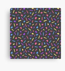 Simple memphis style pattern. Seamless abstract black  background.  Canvas Print