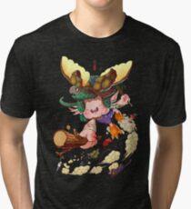 Yoshiki & Capitan leap Tri-blend T-Shirt