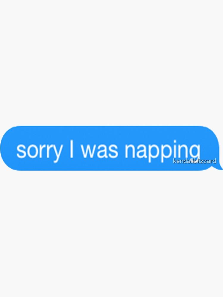Entschuldigung, ich habe geschlafen von kendallblizzard