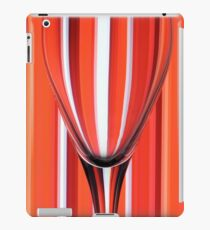Wine Glasses on Striped Red Background iPad Case/Skin