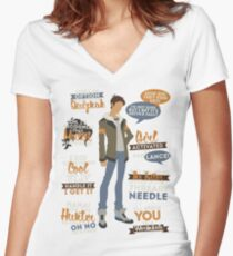 Lance Quotes Women's Fitted V-Neck T-Shirt