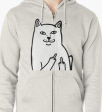 Sudadera con capucha y cremallera F * ckU Cat - Lord Nermal