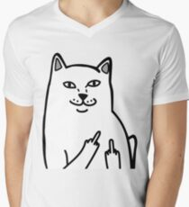 F*ckU Cat - Lord Nermal Men's V-Neck T-Shirt