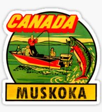 Muskoka Ontario Canada Vintage Travel Decal Sticker