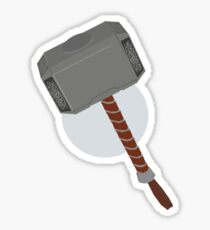 thor's mjolnir Sticker