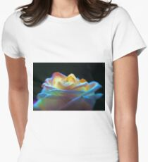 Rainbow Flower Women's Fitted T-Shirt