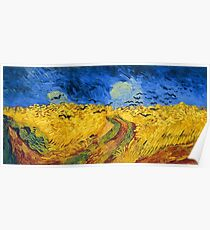 Vincent van Gogh Wheat Field with Crows Famous Paintings Impressionist Poster