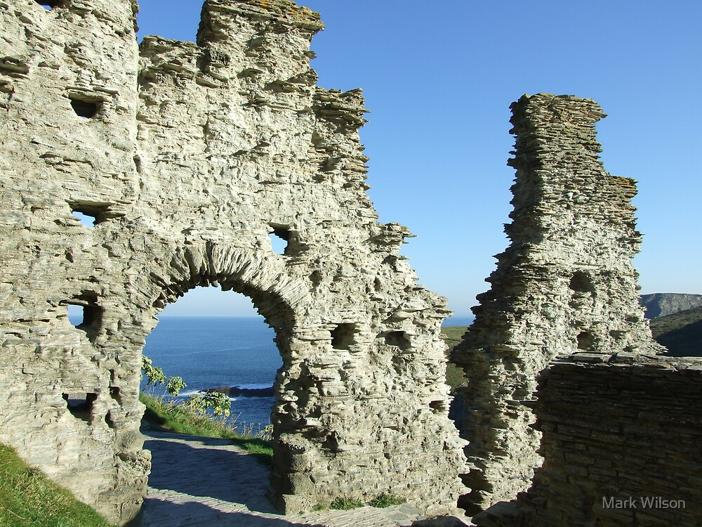 Tintagel Castle, Cornwall by Mark Wilson