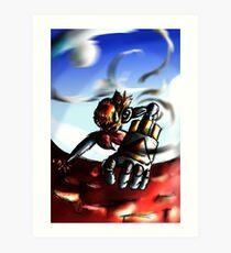 Robotoman Engage! Art Print