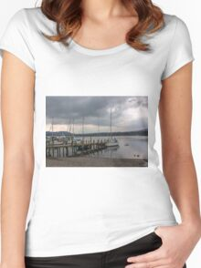 At The Jetty Women's Fitted Scoop T-Shirt