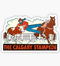 The Calgary Stampede Vintage Travel Decal Sticker