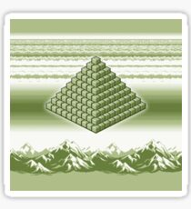 Pixel Pyramid in Gameboy Colours Sticker