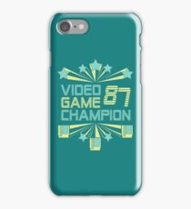 Video Game Champion 1987 : Classic Option iPhone Case/Skin