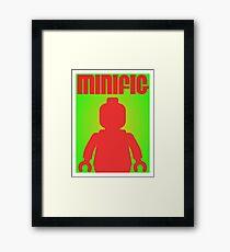 Retro Large Black Minifig  Framed Print